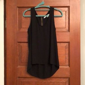 Black zip back tank top